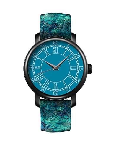 Uhr Vintage Lederausstattung Leichtmetall Damen Analoge Quarz Armbanduhr retro iCreat