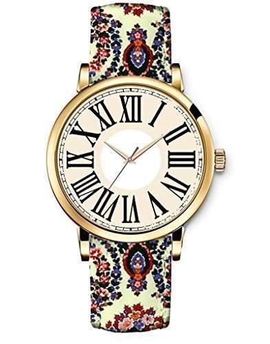 Damenuhr Leder Armbanduhr Vintage Retro Damenarmbanduhr Damen Neu iCreat