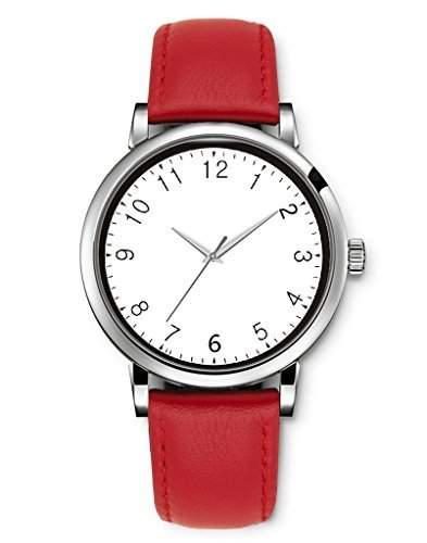 Uhr Printed Quarz-Armbanduhr Schwarz-Weiss Sun