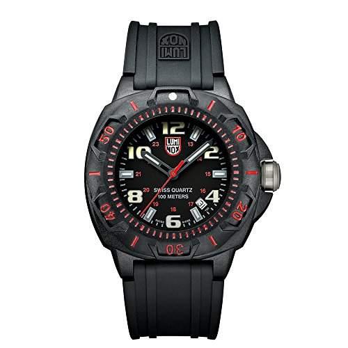 Luminox Herren-Armbanduhr XL Analog Quarz Kautschuk A0215SL
