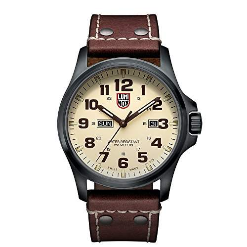 Luminox Herren-Armbanduhr XL Analog Quarz Leder 1927
