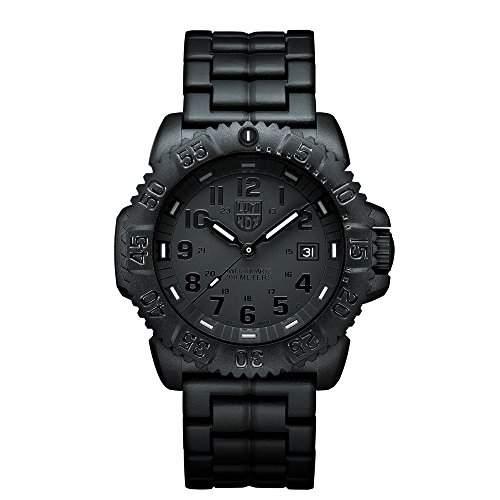 Luminox Herren-Armbanduhr XL Analog Quarz Silikon 3052BO