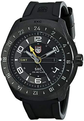 Luminox Herren-Armbanduhr SXC GMT PC Carbon Analog Quarz Plastik 5021