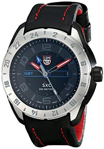 Luminox Herren-Armbanduhr SXC GMT STEEL Analog Quarz Leder 5127
