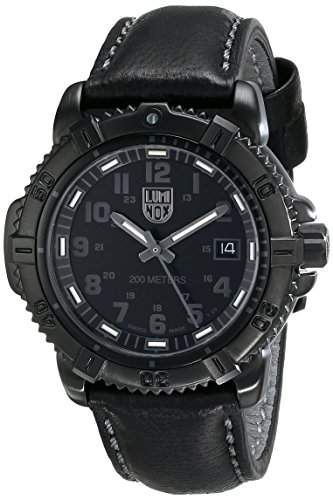 Luminox Herren-Armbanduhr XL Analog Quarz Leder 7251BO