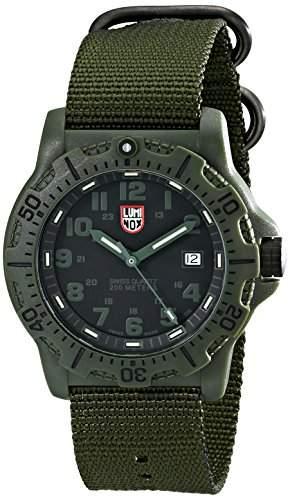 Luminox Herren-Armbanduhr XL Analog Quarz Textil 8817GO