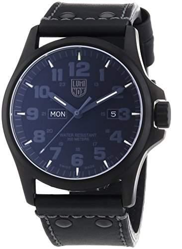 Luminox Herren-Armbanduhr XL Analog Quarz Leder 1921BO