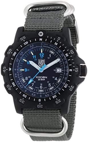 Luminox Herren-Armbanduhr XL Analog Quarz Textil 8823KM