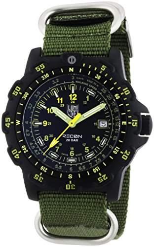 Luminox Herren-Armbanduhr XL Analog Quarz Textil 8825KM