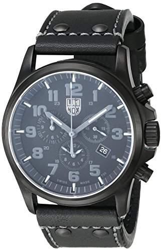 Luminox Herren-Armbanduhr ATACAMA FIELD Chronograph Quarz Leder 1941BO