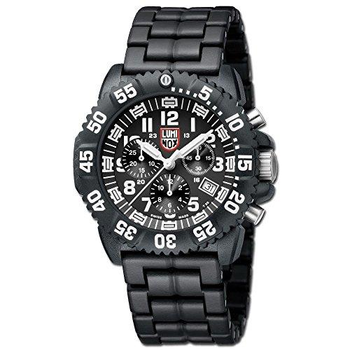 Uhr Luminox 3082 Chronograph schwarz weiss