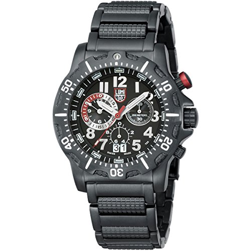 Luminox DIVE CHRONO BLACK STEEL Chronograph Quarz Edelstahl 8362 RP