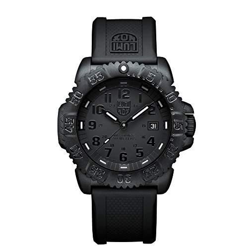 Luminox Herren-Armbanduhr XL Navy Seal Colormark Analog Quarz Plastik A3051BO