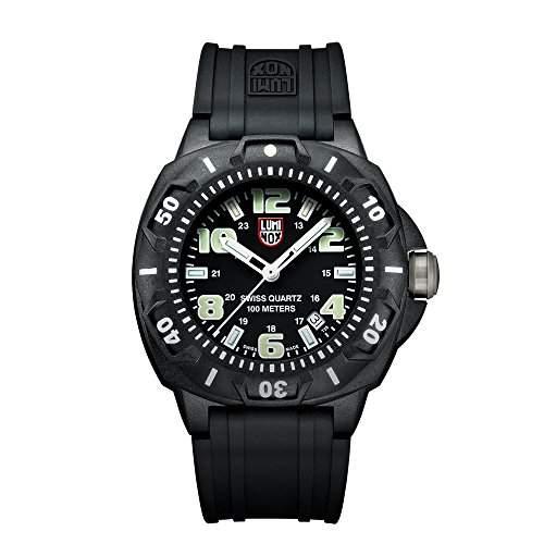 Luminox Herren-Armbanduhr XL Analog Quarz Silikon A0201SL