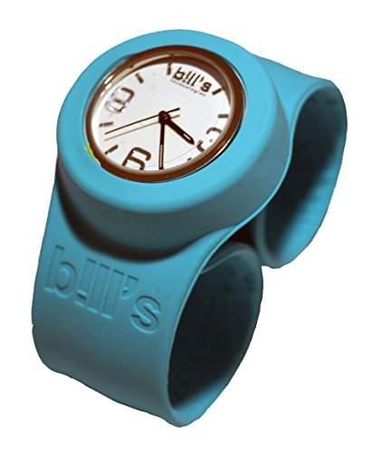 BillsClassicWatch KombiSilikon Uhr SlapBand Unisex,Herren,Damen,Kinder,aquamarinBand,weisserUhreneinsatz Analog Quarz