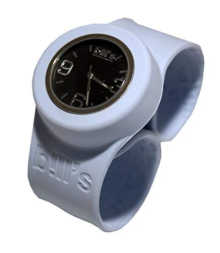 Bills Classic Watch Silikonuhr SlapBand Unisex Analog, Band Arcticwhite, schwarzer Uhreneinsatz