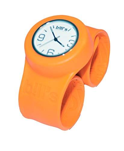 BillsClassicWatch KombiSilikon Uhr SlapBand Unisex,Herren,Damen,Kinder,orangesBand,weisserUhreneinsatz Analog Quarz