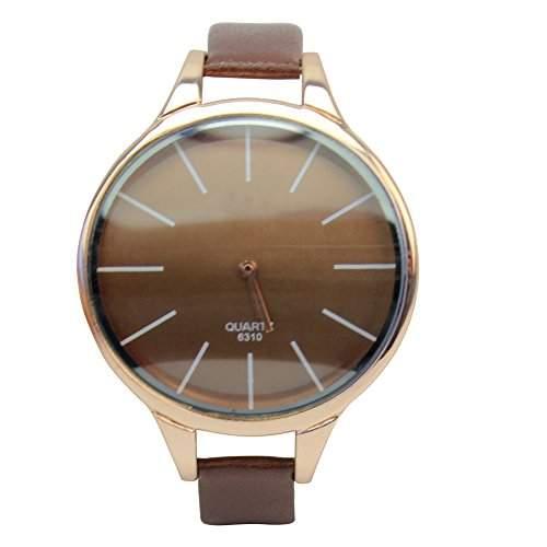 Unisex PU Leder Armband Analog Quarz Uhr Quarzuhr mit duenn Band Geschenk Elegant