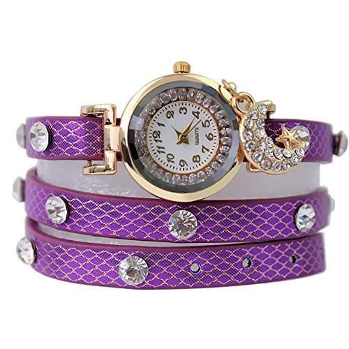 Damen Mond Kristall Strass Uhren Armbanduhr Uhrschmuck schoen f Alltag Nagelneu