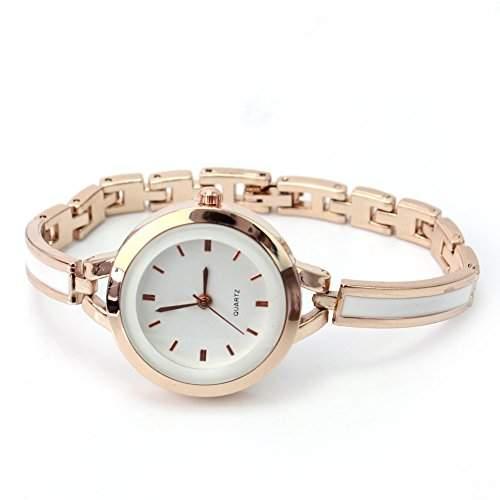 Damenuhr Gold Damen Armbanduhr Quarz Metall Armbandschmuck Uhrschmuck Elegant