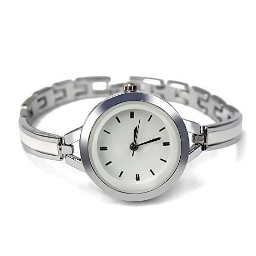 Metall Damen Armbanduhr Damenarmbanduhr Quarzuhr Quarz Silber Farbe Geschenk