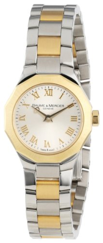 Baume Mercier Damen 8762 Riviera XS Two Tone Gold Zifferblatt
