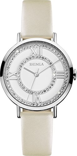 Shimla WomenQuarz Uhr mit weissem Zifferblatt Analog Anzeige und SH 712W Beige