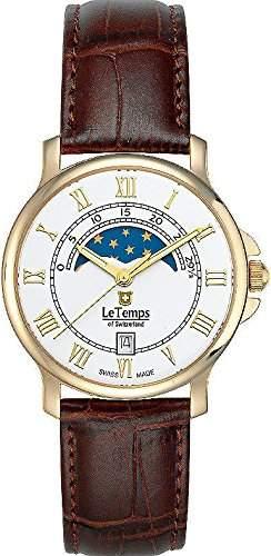 Le Temps Damenuhr, vergoldet, Mondphase Ø 35 mm