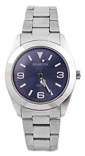 Shaon Herren-Armbanduhr Analog Quarz Edelstahl 22-7121-98