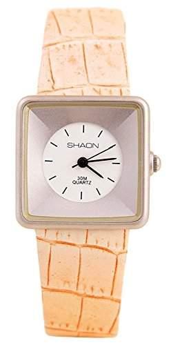 Shaon Damen-Armbanduhr Analog Quarz Leder 35-1014-16