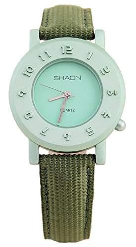 Shaon Damen-Armbanduhr Analog Quarz Textil 35-1018-55