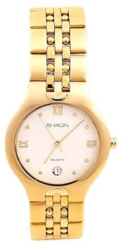 Shaon Herren-Armbanduhr Analog Quarz Edelstahl 35-9629-22