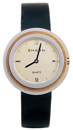 Shaon Herren-Armbanduhr Analog Quarz Leder 36-6014-24