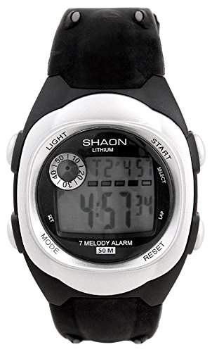 Shaon Herren-Armbanduhr Digital Quarz Plastik 39-6081-84