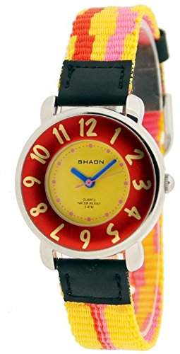 Shaon Jungen-Armbanduhr Analog Quarz Nylon 42-1001-72