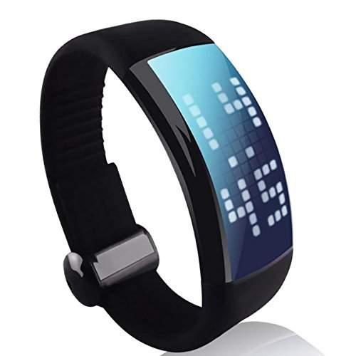 Pixnor Kreative 8GB Mode Unisex USB Flash Drive Smart 3D Schrittzaehler Calorie Counter LED Armbanduhr mit Signatur-Funktion schwarz