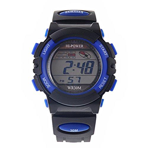Pixnor Solar Power Dgital Display Sports Watch Blue