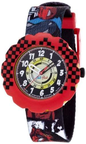 Flik Flak Watches Jungen-Armbanduhr Cars Analog Quarz Textil FLSP002