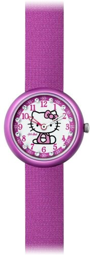 Flik Flak Kinderuhr Hello Kitty purpel