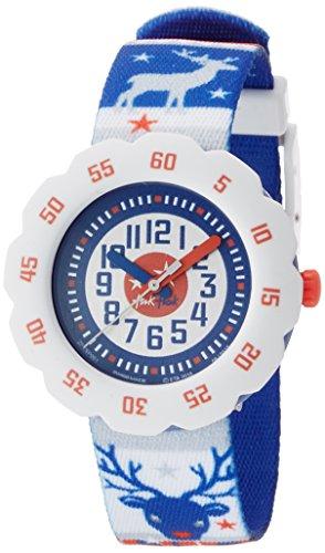 Flik Flak FTSP001 JUL STRIKK Uhr Junge Kinderuhr Stoffband Kunststoff 30m Analog blau