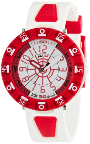 Flik Flak Shaped White Red Kinderuhr FCS028