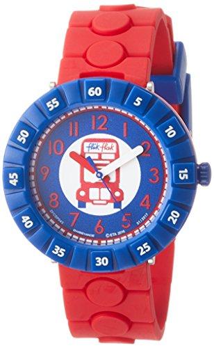 Flik Flak Unisex Armbanduhr Analog Quarz One Size blau rot blau