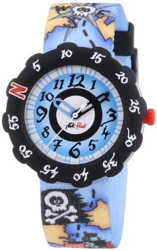Flik Flak Watches Jungen-Armbanduhr Hunting The Sea Standard Analog Quarz Textil FTS010-STD