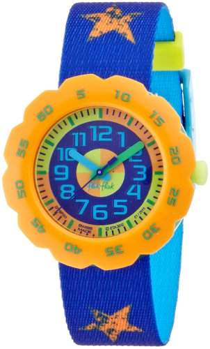 Flik Flak Watches Jungen-Armbanduhr Pres-Cool Boy In Blue Analog Quarz Textil FPSP003