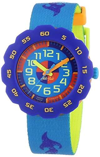 Flik Flak Watches Jungen-Armbanduhr Pres-Cool Boy In Turquoise Analog Quarz Textil FPSP005