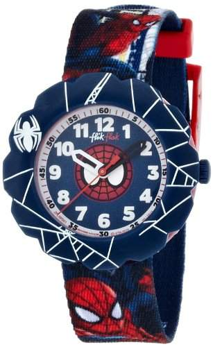 Flik Flak Watches Jungen-Armbanduhr Spiderman Analog Quarz Textil FLSP001