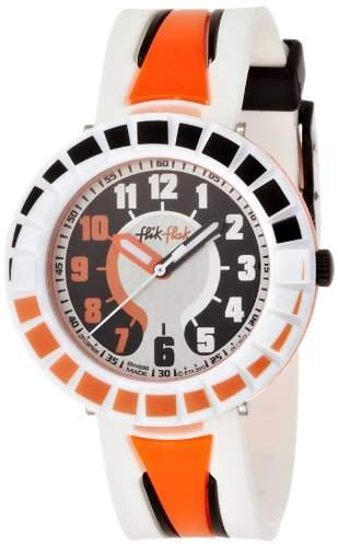 Flik Flak FCSP008 ALL AROUND ORANGE & BLACK Uhr Junge Kinderuhr Kunststoff Kunststoff 30m Analog silber