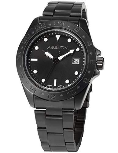 Agnet X Herren Analog Datumanzeige Edelstahl Armband Quarzuhr AGX098