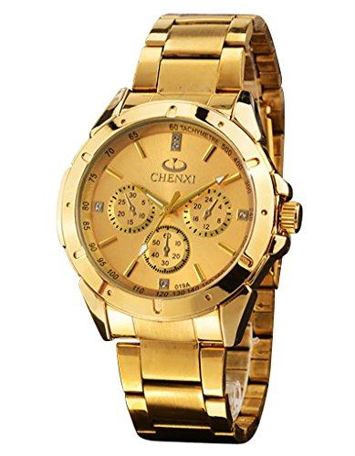 OOFIT UHREN gold Edelstahl Armbanduhr Analog Quarz uhr wasserdicht OOFIT 019A Gold NAN