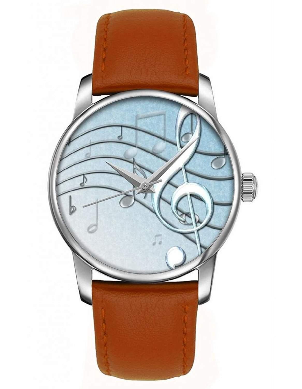 Maedchenuhr, Golden braun Damenuhr Leder Armbanduhr mit OOFIT Design